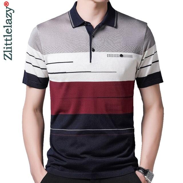 2021 Brand Short Sleeve Polo Tee Shirt Men Casual Summer Striped Men's Clothing Polos Shirts Mens Fashion Slim Fit Poloshirt 722 1