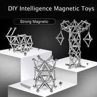3D DIY Designer Magnetic Building Blocks Magnet Sticks & Metal Balls Brain Training Magnetic Toys For Children Adults Gifts