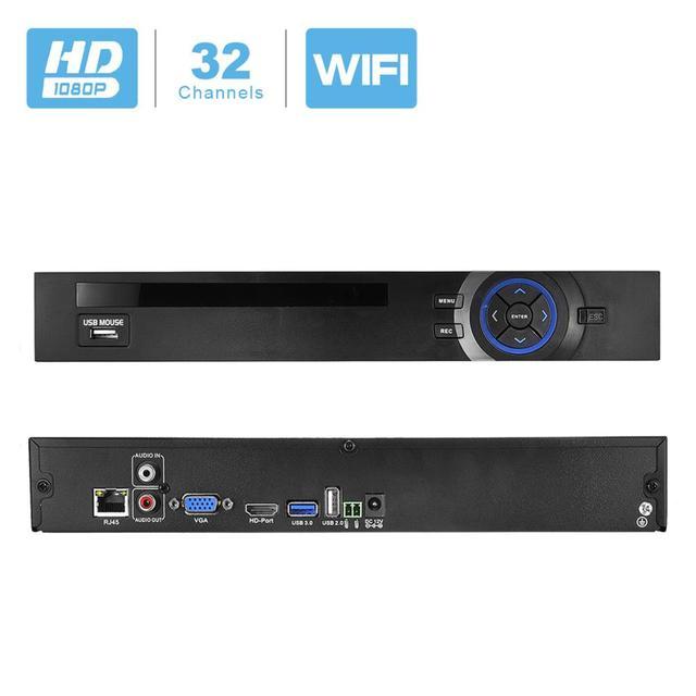מלא HD 1080P CCTV NVR 32CH HI3535 מעבד אבטחת רשת מקליט 32CH 1080P NVR תמיכת Wifi 3G RTSP 32CH 1080P/16CH 4MP