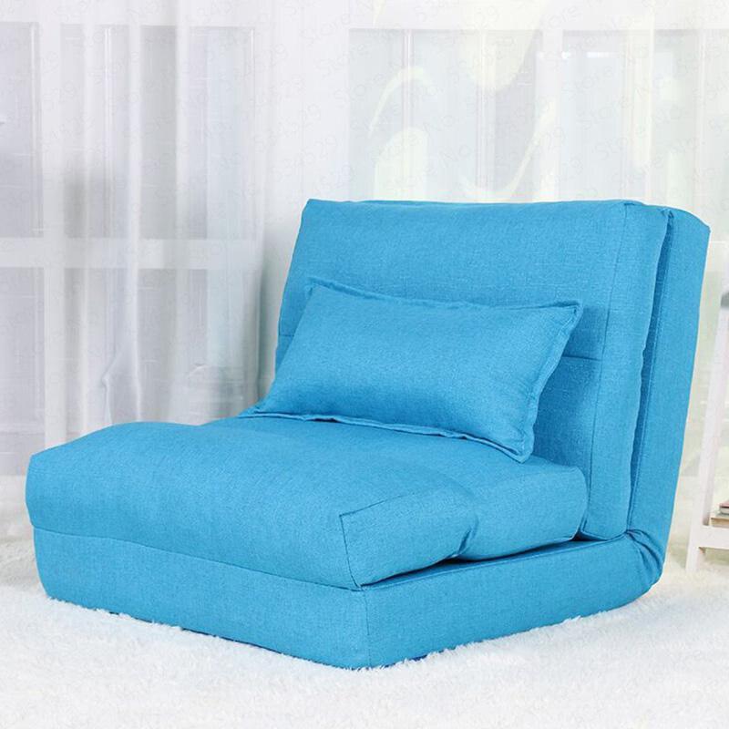 2B Creative Folding Lazy Sofa Living Room Fabric Sofa Bed Simple Dormitory Single Small Sofa Small Apartment Floor Sofa