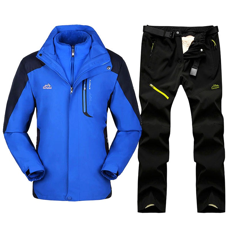2019 Winter Ski Suit Men Snow Ski Jackets And Pants Outdoor Thermal Waterproof Windproof Skiing And Snowboarding Jackets Sets