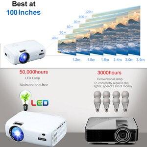 Image 5 - WZATCO E600 الروبوت 10.0 واي فاي الذكية المحمولة مصغرة جهاز عرض (بروجكتور) ليد دعم كامل HD 1080p 4K AC3 الفيديو المسرح المنزلي متعاطي المخدرات Proyector