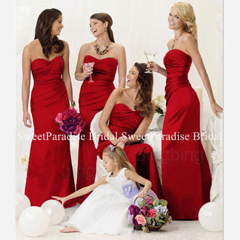 Wholesale Long Mermaid Bridesmaid Dresses For Women Customize Pleat Fishtail Junior Wedding Guest Dress Vestido Madrinha