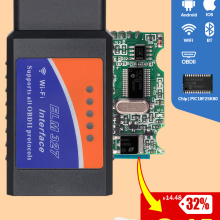 OBD2 Scanner Code-Reader Car-Diagnostic-Tool PIC18F25K80 Elm 327 IOS Android OBDII Mini
