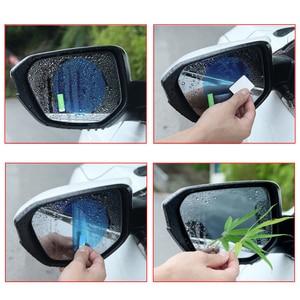 Image 5 - 4 szt. Samochód przeciwmgielny przeciwdeszczowa naklejka nad lusterkiem wstecznym ochronne okienko Decor wodoodporna folia