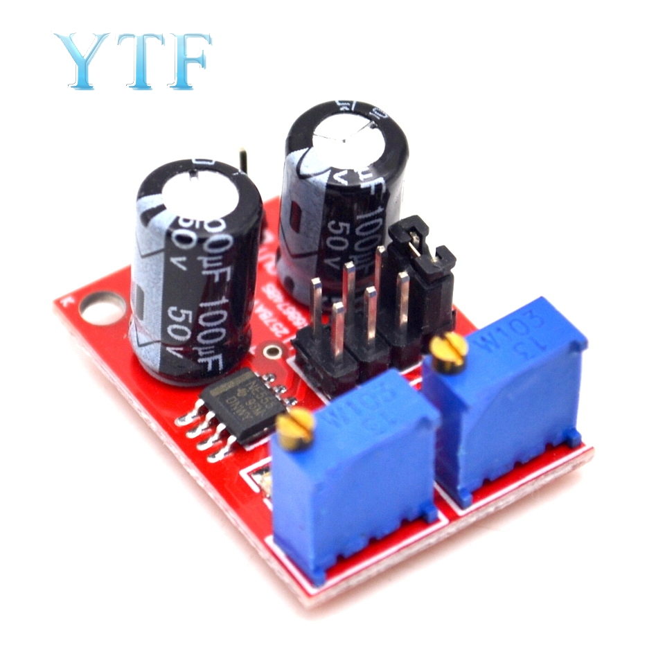 E555 Pulse Frequency Adjustable Duty Cycle Square Wave Modules Rectangular Wave Signal Generator Stepper Motor Driver