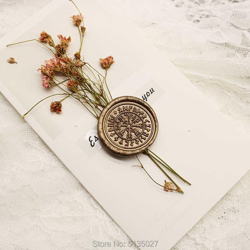 VIKING RUNE VEGVISIR Wax Seal Stamp  wedding invitation  birthday party stamp