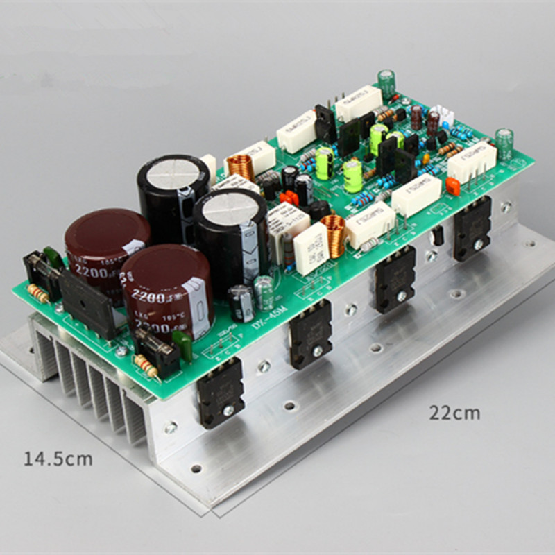 2SC5200 2SA1943 1943 5200 Double AC24-36V 400W+400W 2.0 Channel Stereo Home Stage Audio Power Amplifier Board