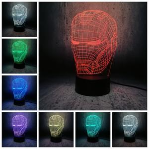 Toy Usb-Lamp Superhero-Figure Led-Night-Light Gift Marvel Avengers Novelty Creative Kids