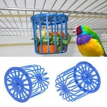 Птичья кормушка для попугаев клетка для фруктов Подставка для овощей клетка аксессуары подвесная Корзина Контейнер игрушки для домашних животных Кормушка для попугаев