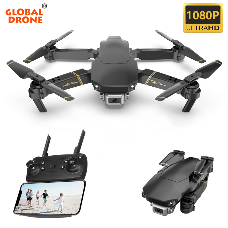 Global Drone EXA Profissional Quadrocopter with HD 1080P Camera RC Helicopter FPV Drones Optical Flow Selfie Dron VS E58 E520