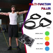 120cm yoga pull rope resistance band fitness rubber elastic band fitness equipment rubber expander elastic sports training belt resistance bands 8 shaped fitness elastic rubber loops latex pull rope sports rubber expander band yoga pilates fitness belt