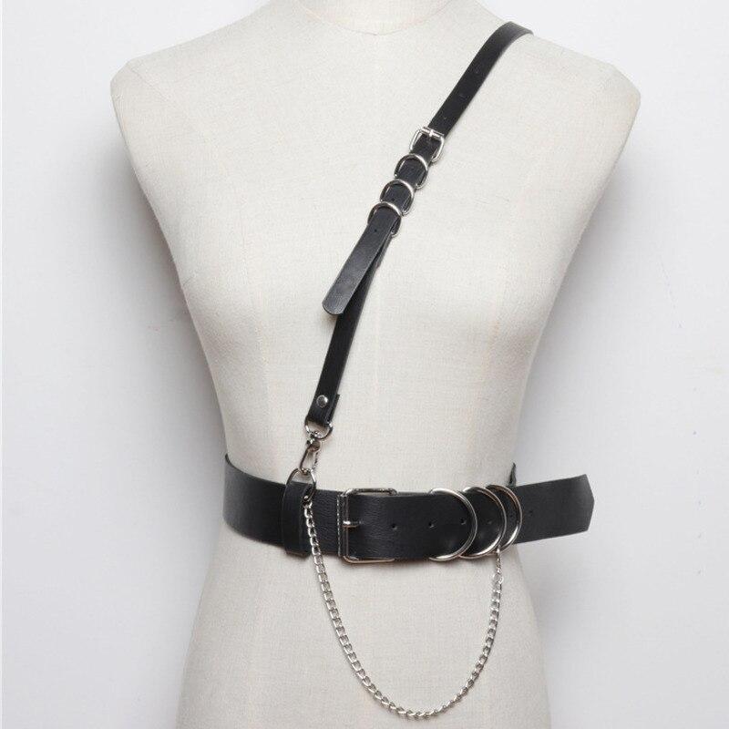2020 New Design Leather Corset Belt Tide Belts For Women Stylish Wide Belt Punk Style Strap Belt Fashion Waistband Female ZK594