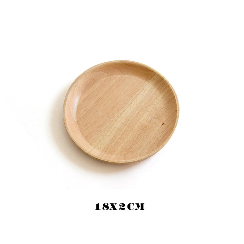 Wooden Round Storage Tray Plate Tea Food Dishe Drink Platter Food Plate Dinner Beef Steak Fruit Snack Tray Home Kitchen Decor - Цвет: 19