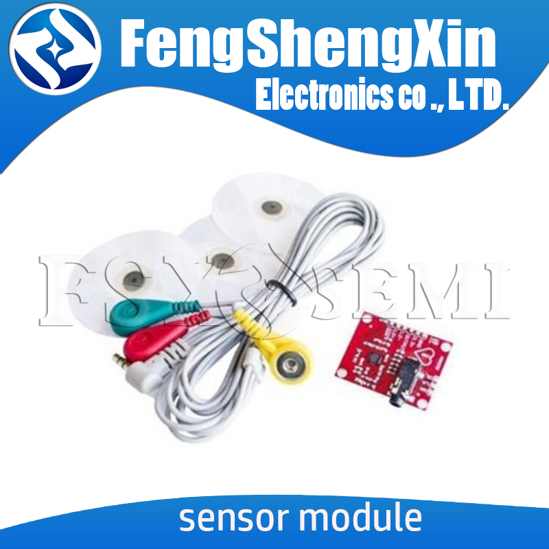 <font><b>Ecg</b></font> module AD8232 <font><b>ecg</b></font> measurement pulse heart <font><b>ecg</b></font> monitoring sensor module for <font><b>Arduino</b></font> kit image