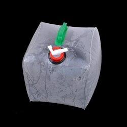 Biały składany zbiornik wody na wodę może płaski litr kanistra  10L w Wiadra od Dom i ogród na