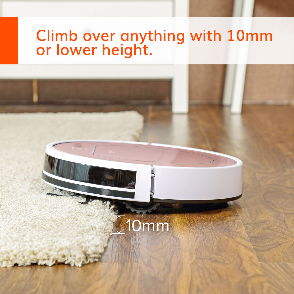 ILIFE V7s Plus Robot Vacuum Cleaner Sweep and Wet Mopping Disinfection For Hard Floors&Carpet Run 120mins Automatically Charge 2
