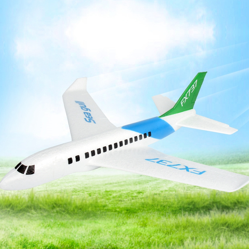 Hand Launch Throwing Foam Plane EPP Airplane Boeing 737 Model Plane Glider Aircraft Model Outdoor DIY Educational Kids Toys