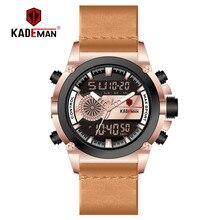 New Fashion Men Watch Sport Digital Watch Luxury KADEMAN 2019 TOP Brand Dual Display LCD Wristwatch Military Man Automatic Clock