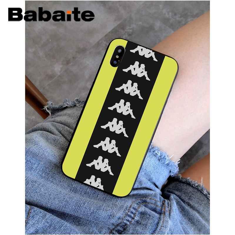 Babaite Ý Thương Hiệu Thể Thao Kappa Chất Lượng Cao Ốp Lưng Điện Thoại Iphone 11 Pro XS Max 8 7 6 6S plus X 5 5S SE XR SE2020