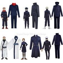 Disfraz de Anime Jujutsu, Cosplay de Kaisen Itadori Yuji, Kugisaki nolara, pelucas de Fushiguro Megumi, uniforme personalizado aceptado