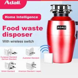 ADALI Food Waste Disposer Wireless Switch 560W High Horsepower Copper Motor Residue Garbage Processor Grinder kitchen appliances
