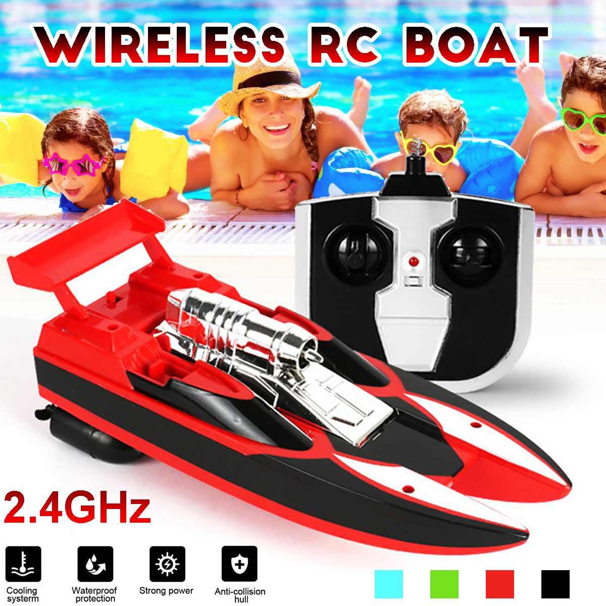 Горячая продажа Радио пульт дистанционного управления двухмоторная высокоскоростная лодка RC гоночный детский открытый гоночный катер RC-лодки      АлиЭкспресс