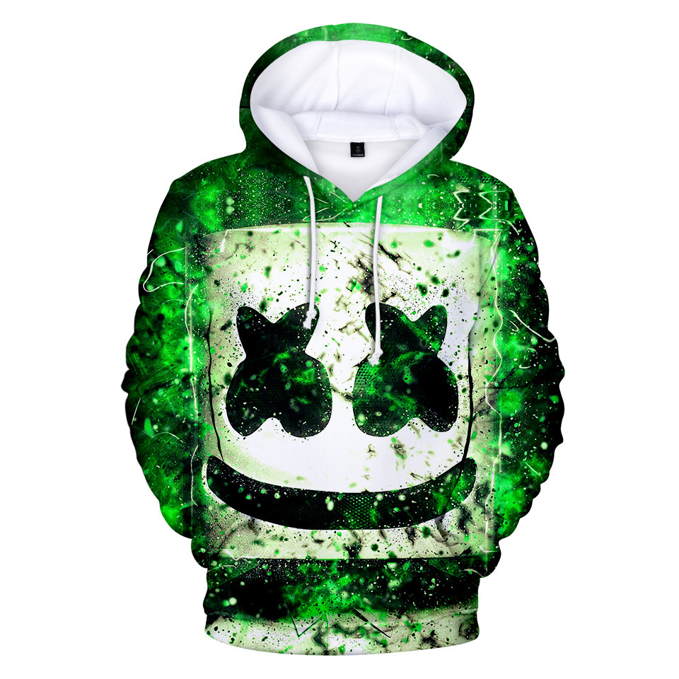 DJ Marshmallow Wild 3D Print Sweatshirt Hoodies Cosplay Unisex Men Women Hip Hop Leisure Streetwear Hoodies Clothes Costumes