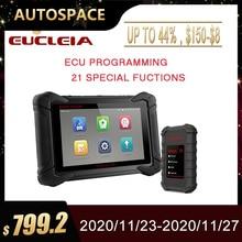EUCLEIA S8 Профессиональный полнофункциональный сканер OBD2 J2534 ECU программирование ODB OBD2 автомобильный сканер PK MK908P автомобильный диагностический инструмент