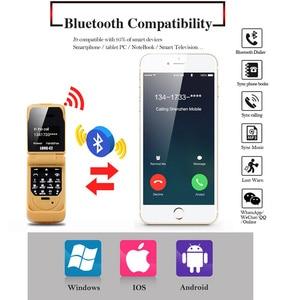 "Image 4 - J9 Mini Clamshell Phone 0.66"" Wireless Bluetooth Dialer Magic Voice Handsfree Earphone Small Flip Mobile Phone for Kids"