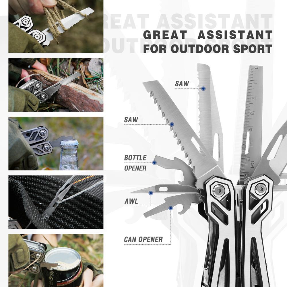 MOSSY OAK 21 in 1 Multi Plier Wire Stripper Folding Plier Outdoor Camping Multitool  Pocket Mini Portable Folding Pliers 4