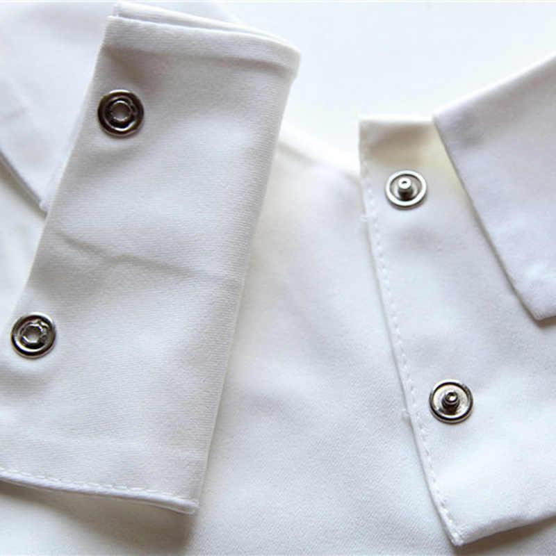 وهمية طوق خمر الصلبة أبيض أسود التعادل انفصال البلوزات قميص طوق صدرية كاذبة طوق القابلة للإزالة ملابس حريمي اكسسوارات