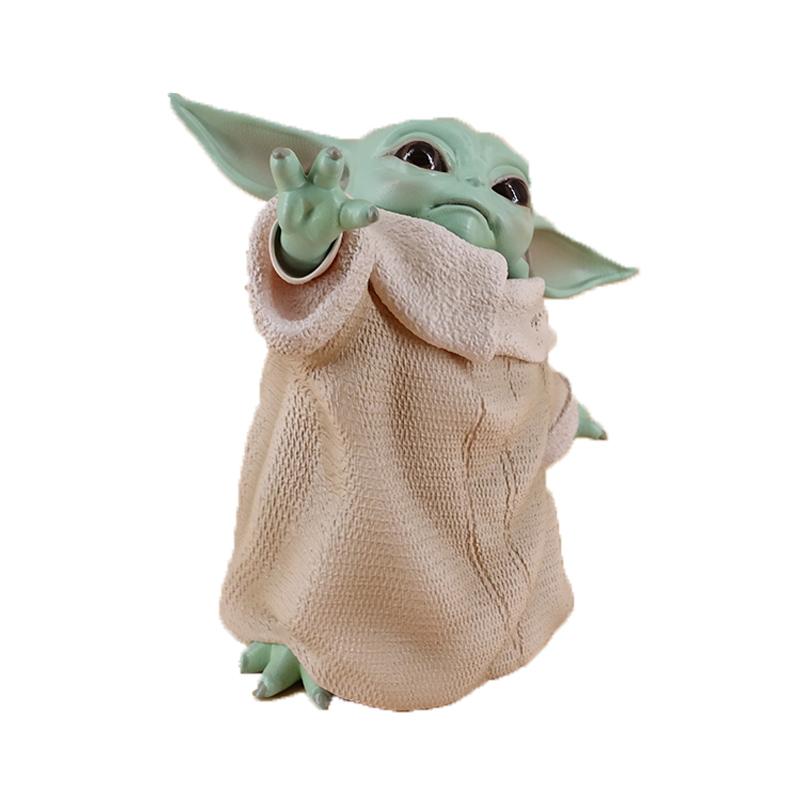 The Force Awakens Star Wars Mandalorian Yoda Action Figure Model Doll Gift 8cm