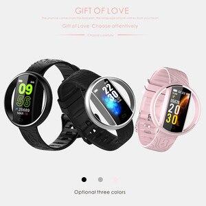 Image 5 - ליגע חדש נשים חכם שעון גברים IP68 עמיד למים ספורט כושר tracker משולבות LED צבע מגע Smartwatch Montre homm + תיבה