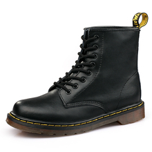 Autumn Classic Black PU Leather Women Boots Winter Soft Bott