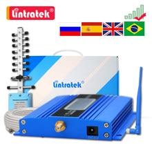 Celular amplificador GSM 2G 900 3G UMTS 2100 4G LTE DCS de 1800MHZ amplificador de señal para móvil Teléfono + antena + 10m Cable repetidor
