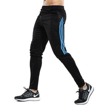 Men's Sweatpants Gyms Fitness Bodybuilding Joggers Workout Trousers Zipper Football Soccer Pants Training Sport Srousers 1