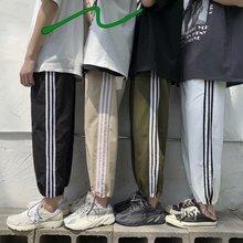 Три линии спортивные брюки супер огонь cec брюки мужские прямые свободные летние тонкие секции девять точек tide бренд ins луч ноги досуг