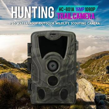 HC801A Hunting Camera 16MP 1080P 32GB Trail Camera Infared IP65 Photo Traps 0 3s Trigger Time 940nm Wild Trail Camera tanie i dobre opinie Skatolly
