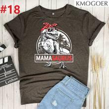 Mamasaurus T-rex Dinosaure Impression T-shirts Femmes Été T-shirt Graphique Esthétique Chemises Pour Femmes Décontracté Manches Courtes Dames Hauts