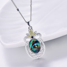 Посеребренные ананас Форма ушка кулон звено цепи ожерелье ювелирные изделия