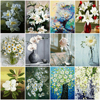 HUACAN Pictures By Number Flower DIY Drawing Canvas Handpainted Painting By Number Flower Home Decoration