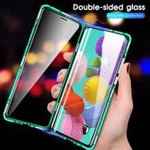360 adsorpcja magnetyczna odwróć etui na telefony do Samsung Galaxy A51 A21s A71 A70 A30s A50 tylna pokrywa na Samsung A 71 A 51 przypadku magnes