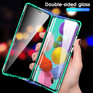 Image 1 - 360 cas de téléphone à rabat dadsorption magnétique pour Samsung Galaxy A51 A71 A70 A30s A50 couverture arrière sur Samsun A 50 A 71 A 51 aimant de boîtier