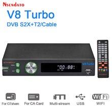 GTMEDIA V8 توربو DVB S2 S2X DVB T2 استقبال الأقمار الصناعية واي فاي H.265 HD 1080P صندوق التلفزيون فك ل يوتيوب اسبانيا كام CA فتحة بطاقة