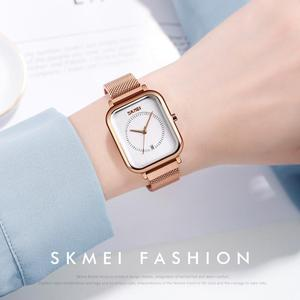 Image 3 - SKMEI Brand Womens Watches Luxury Mesh Belt Quartz Watch Fashion Ladies Dress Bracelet Waterproof Women Watch Clock