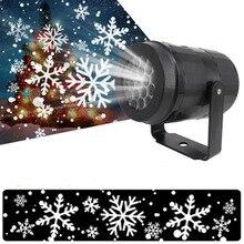 Projecteur lumineux Laser à motif de flocons de neige LED 85V 240V, lumière pour décoration de maison, fête, noël