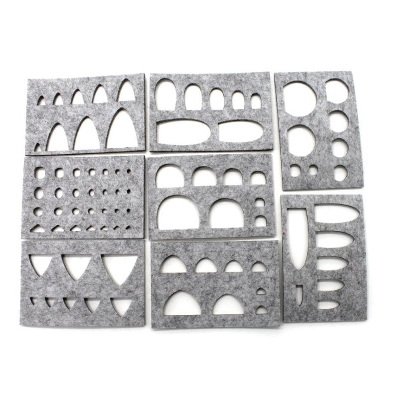 8pcs Wool Felt Mold Needle Felting DIY Craft Stencil Applique Handicraft Shaping