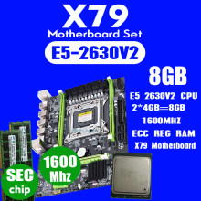 Atermiter X79 motherboard set with LGA2011 combos Xeon E5 2630V2 CPU 2pcs x 4GB = 8GB memory DDR3 RAM 1600Mhz PC3 12800R PCI-E(China)