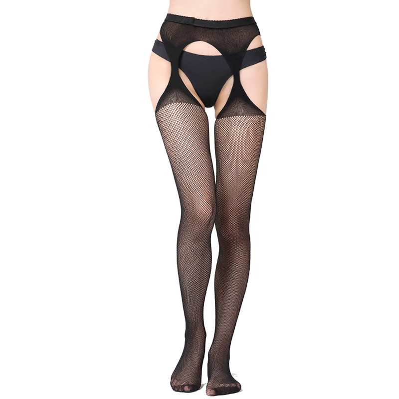 Sexy Sheer Stretchy Stockings Black Sheer Thigh Stockings Women Sexy Underwear Babydoll Embroidered Striped Tights S1108